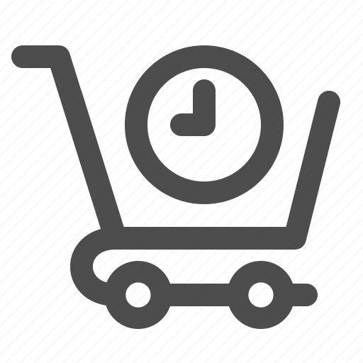 cart, clock, deadline, shopping, time icon