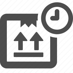 box, clock, crate, delivery, on time icon