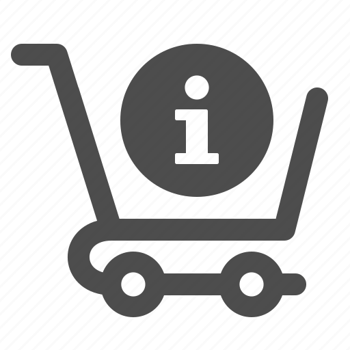 cart, info, info button, shopping icon