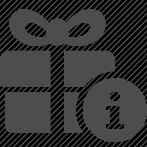 box, gift, gift box, info, info button, present icon
