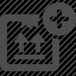 add, box, button, crate, plus icon