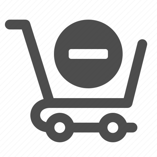 cancel, cart, minus, shopping icon