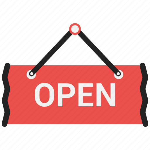 Open shop, open sign icon - Download on Iconfinder