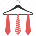 accessories, cloth hanger, clothing, fashion, garments, ties, wardrobe icon