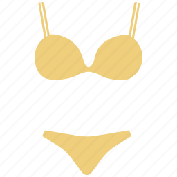 bikini, bra and penty, lingerie, two-piece, underwear, undies icon