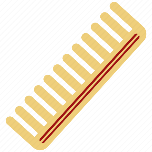 comb, hair, hair accessory, plastic hair comb icon