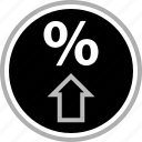 arrow, percent, percentage icon