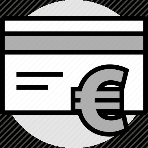 card, credit, euro icon
