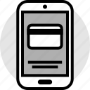 card, credit, mobile, phone icon