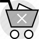 cart, cross, delete, stop icon
