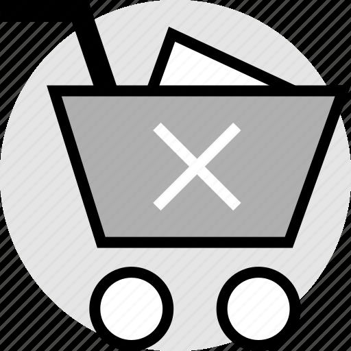 cart, cross, delete, stop icon