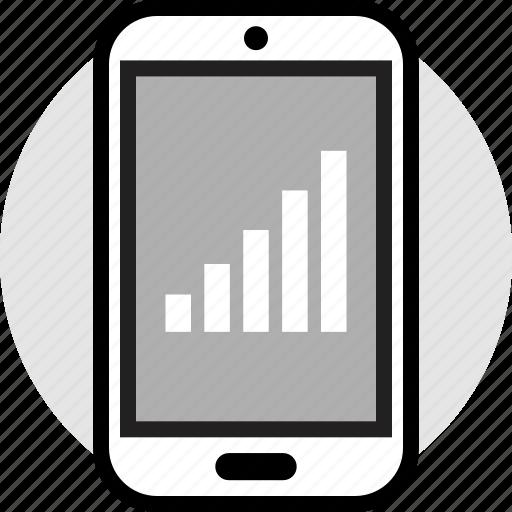 bars, data, profile icon