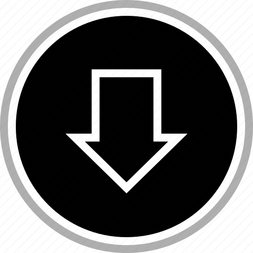arrow, down, download, pointer icon
