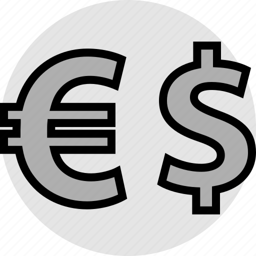 dollar, euro, funds, pay icon
