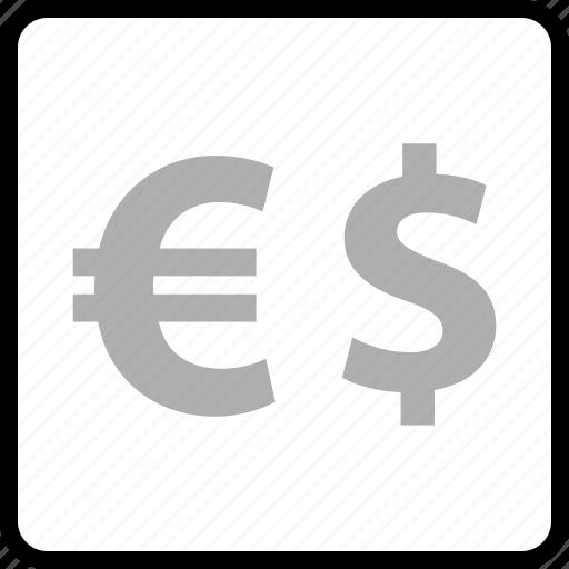 dollar, euro, pay, sign icon