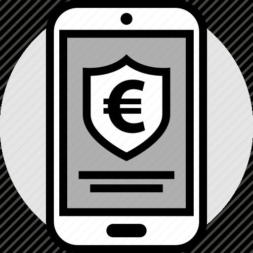 euro, safe, shield, sign icon
