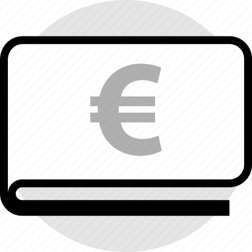 euro, funds, pay, wallet icon