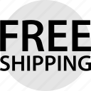 ecommerce, free, shipping icon