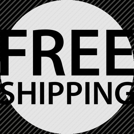 ecommerce, free, shipping icon
