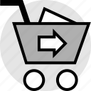 add, cart, go, item icon