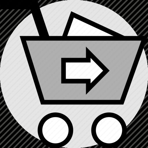 add, cart, go, item icon