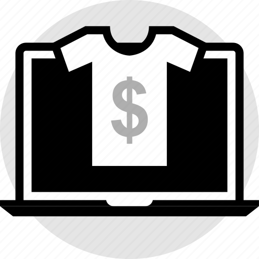 ecommerce, laptop, online, pay icon