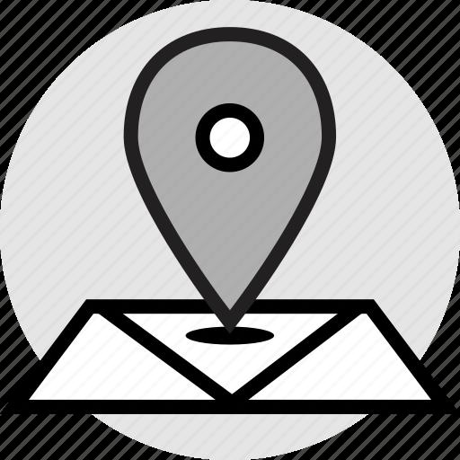 locate, location, map icon