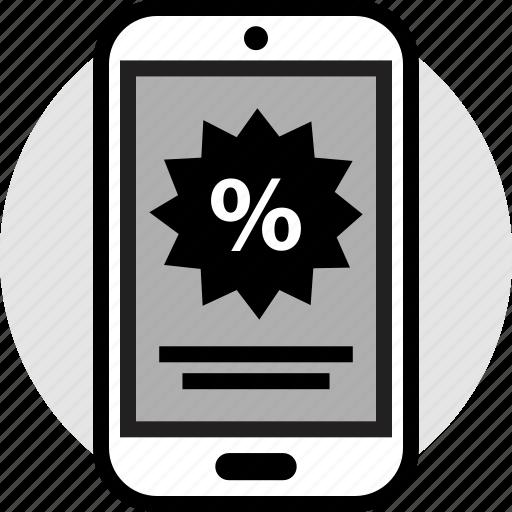 mobile, percent, percentage icon
