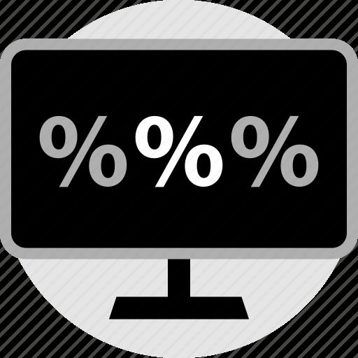 percent, percentage, revenue icon