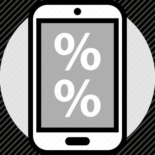 online, percentage, web icon