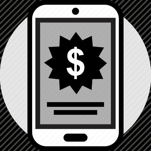 dollar, mobile, pay, price icon