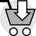 cart, download, shopping icon