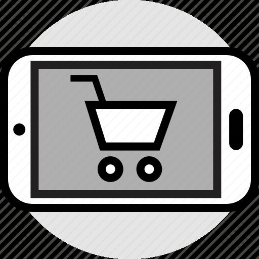 design, mobile, shopping icon