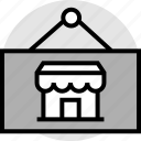 front, sale, store icon