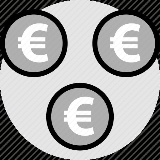 euro, pay, signs, three icon