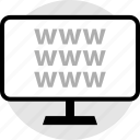 monitor, web, www icon
