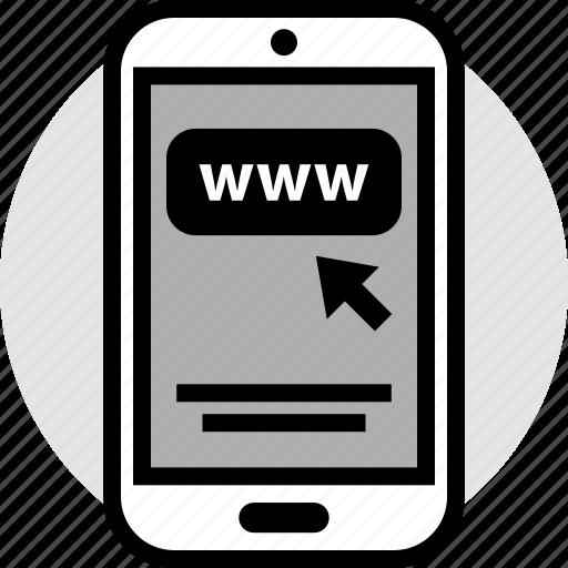mobile, pointer, shop, www icon