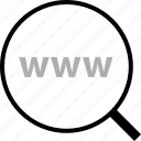 find, search, www icon