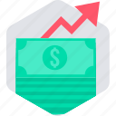 finance, financial, growth, money, payment, profit, revenue icon