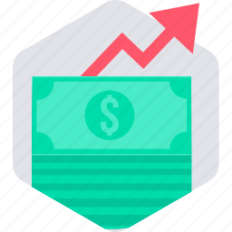 finance, financial, growth, money, payment, profit, revenue icon
