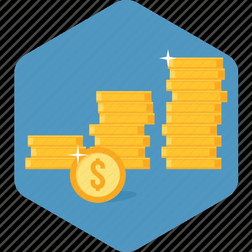 arpu, investment, market share, money, profit, revenue, sales icon