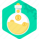 budget, cash, fund, funds, retirement, save money, savings icon