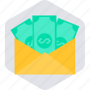 budget, cash, envelope, funds, money, pay, payment icon