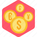 business, cash, convert, currency, money, transfer icon