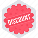 discount, discount offer, label, offer, sale, sign, tag icon