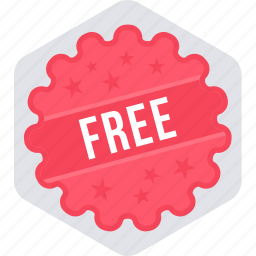 free, free offer, offer, sign, sticker icon