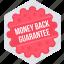 board, label, money back guarantee, sign, sticker icon