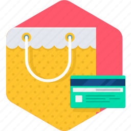 bag, buy, credit card, shop, shopping icon