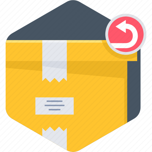 assignment, package, parcel return, returned icon