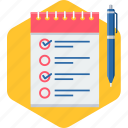 checklist, document, items, list, paper, tick, tickmark icon